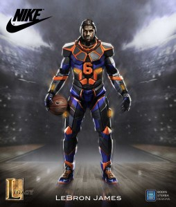 Lebron James Nike Superhero Elite suit final concept.