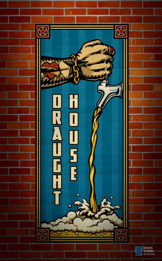 Brewco Draught House wall mural