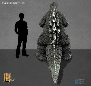 Snickers Godzilla design- back