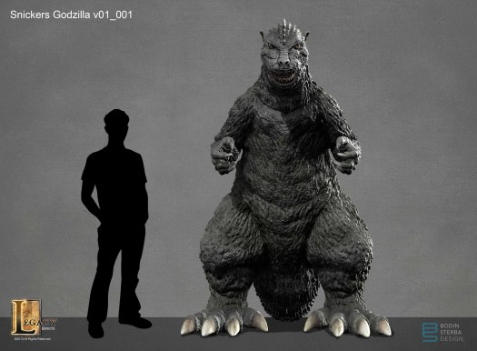 Snickers Godzilla design- front