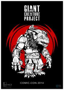 This was an early poster/ graphic I created for the Creature, but it was decided that the detail wouldn't read as well in various formats and scales.