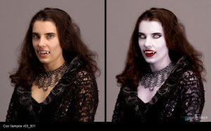 "Vampire design for ""Many Sides of Me"" Contour from Cox commercial."