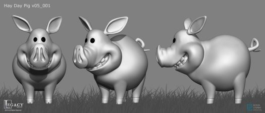 Pig 3D model for Hay Day commercial