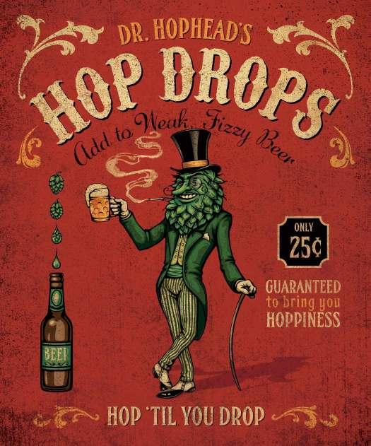 Dr. Hophead's Hop Drops wall art