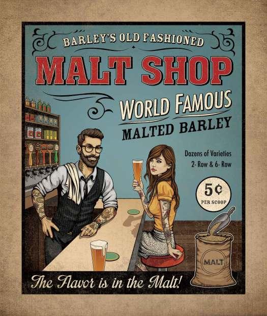 Barley's Old Fashioned Malt Shop artwork