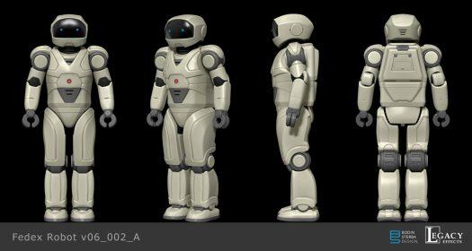 Robot design for Fedex commercial