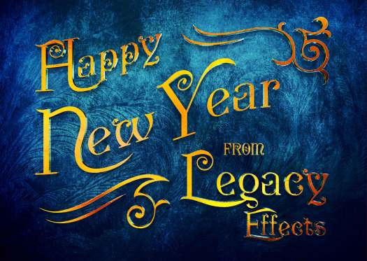 Legacy Effects New Year card
