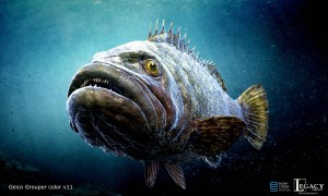 """Geico Giant Fish for """"Fisherman Tell Tales"""" commercial"""