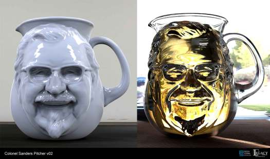 This is the first pass at the Colonel Sanders pitcher