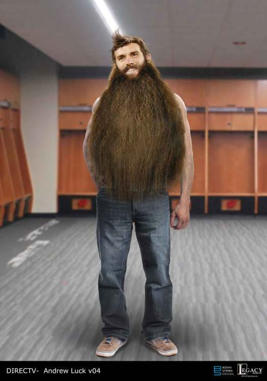 DirecT Out of Control Beard Andrew Luck