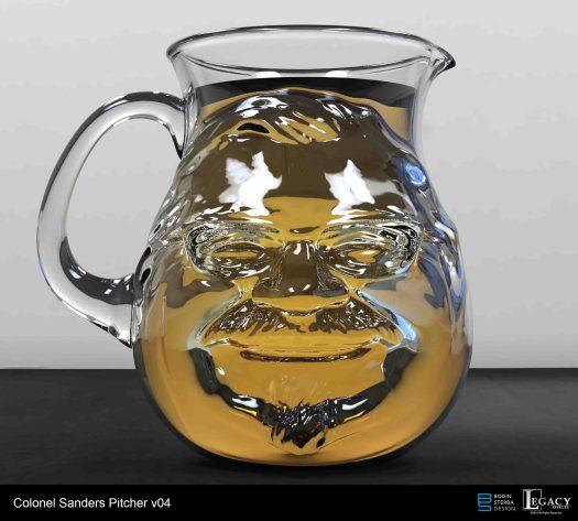 KFC Colonel Sanders pitcher digital sculpt
