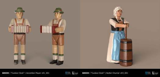 Geico- Take a Closer Look Cuckoo Clock Accordion Guy, Milk Maid