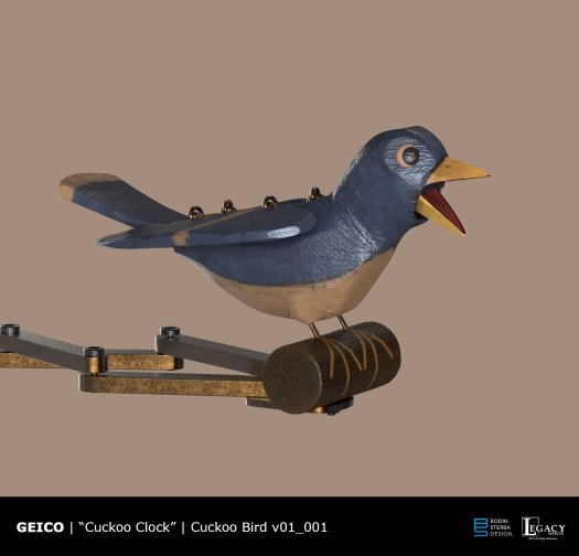 Geico- Take a Closer Look Cuckoo Clock Cuckoo Bird