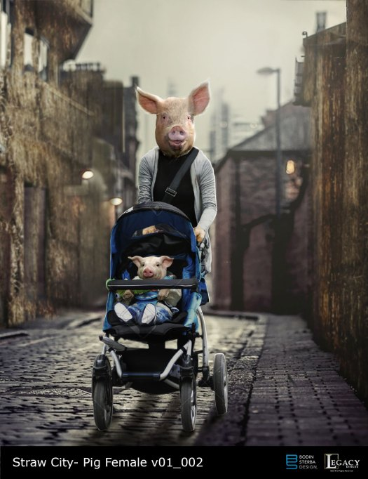 "The Real Cost Commercial: ""Straw City"" Mother Pig and baby"