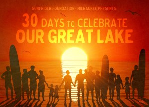 Surfrider Foundation-Milwaukee 30 Days to Celebrate Our Great Lake postcard front
