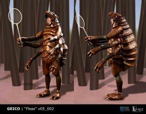 Geico- Fleas Playing Badminton preliminary design deemed too scary ;)