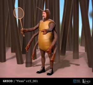Geico- Fleas Playing Badminton final design
