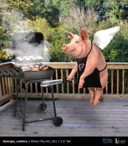 Wilson the Georgia Lottery Spokes-Pig