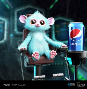 "Pepsi ""The Encounter"" preliminary alien design"