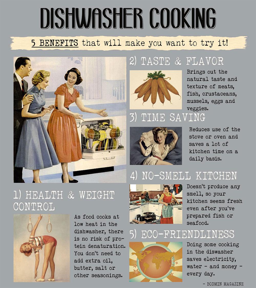 Benefits of dishwasher cooking