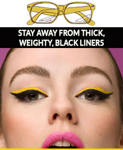 Avoid-wearing-thick-eyeliner-with-glasses