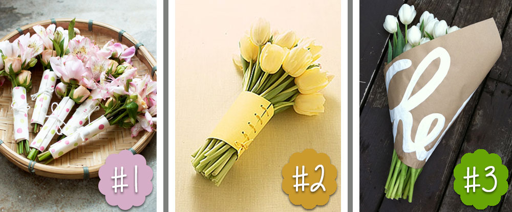 DIY-flower-bouquet-wrapping-ideas