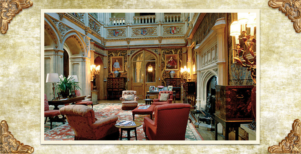 Downton-Abbey-Decor-The-Saloon-At-Highclere-Castle