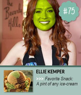 Ellie-Kemper-loves-to-snack-on-ice-cream