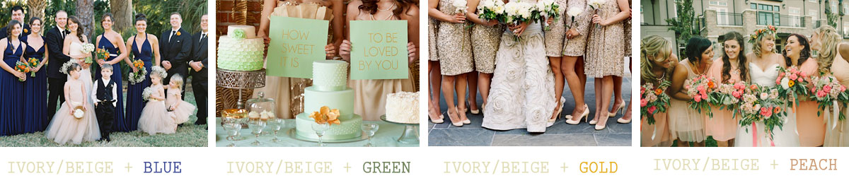 Ivory-or-beige-wedding-color-combinations