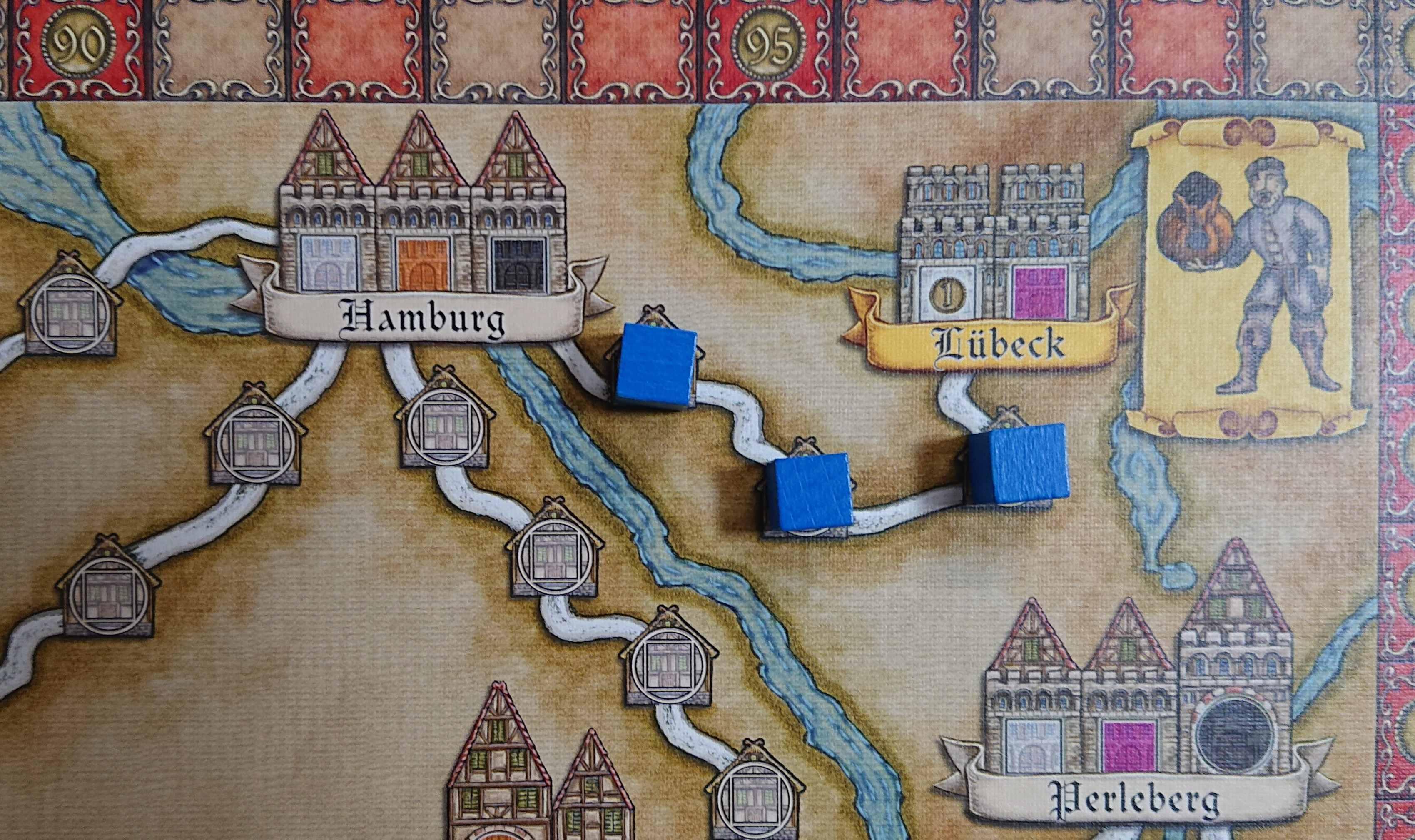 ハンザテウトニカ(その1) 傑作ボードゲーム 都市のネットワークを確立せよ ルール説明