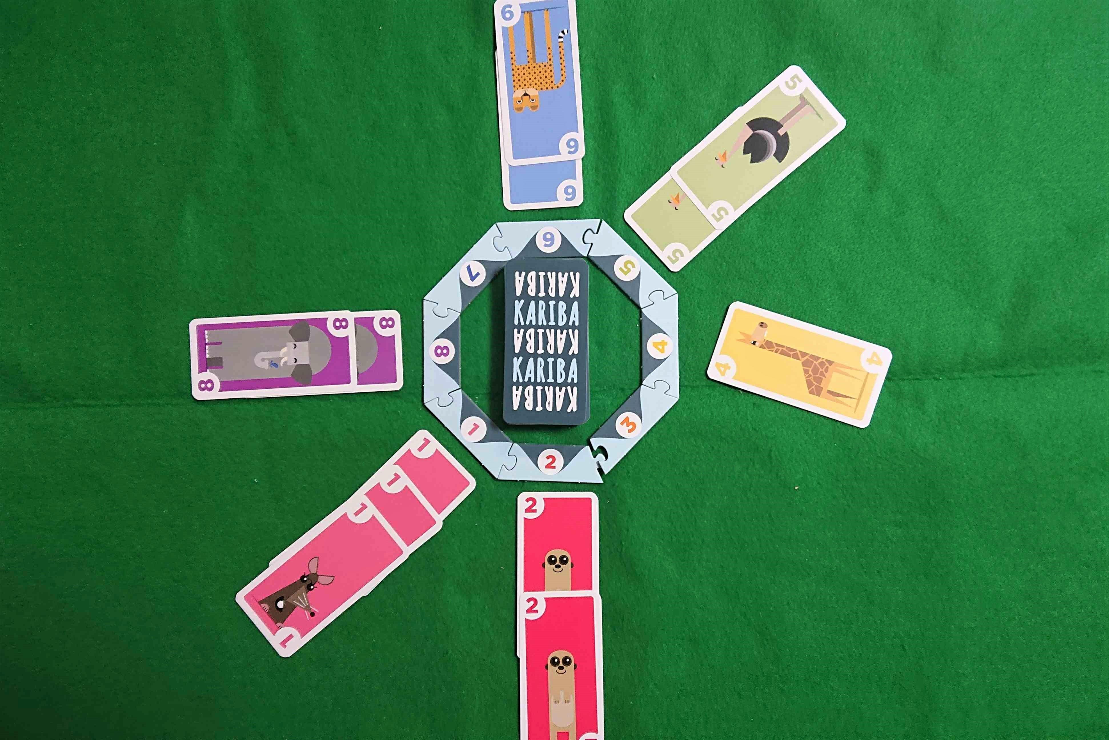 KARIBA(カリバ) カードゲーム 水飲み場から動物を追い出せ! 動物の絵が可愛いです! ボードゲーム