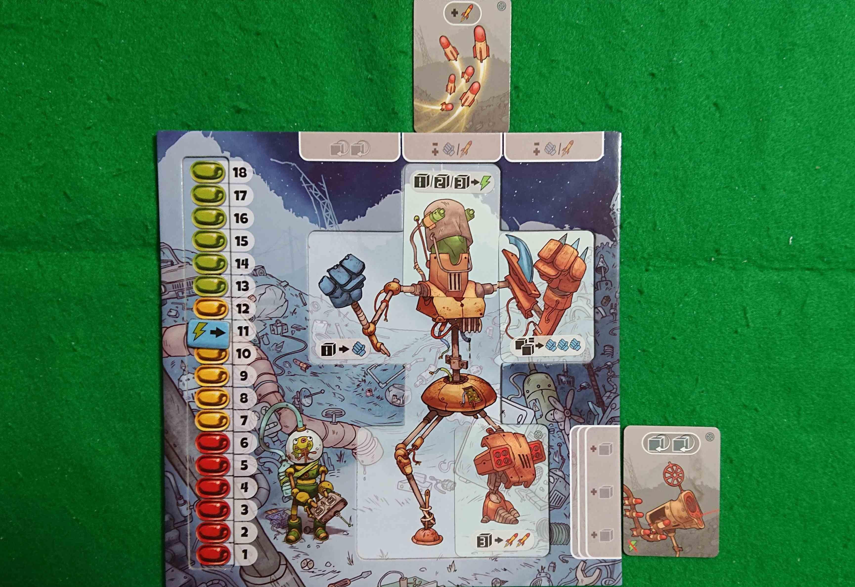 ポンコツロボット大乱闘 廃品回収の部品を使って相手をボコボコに! ボードゲーム