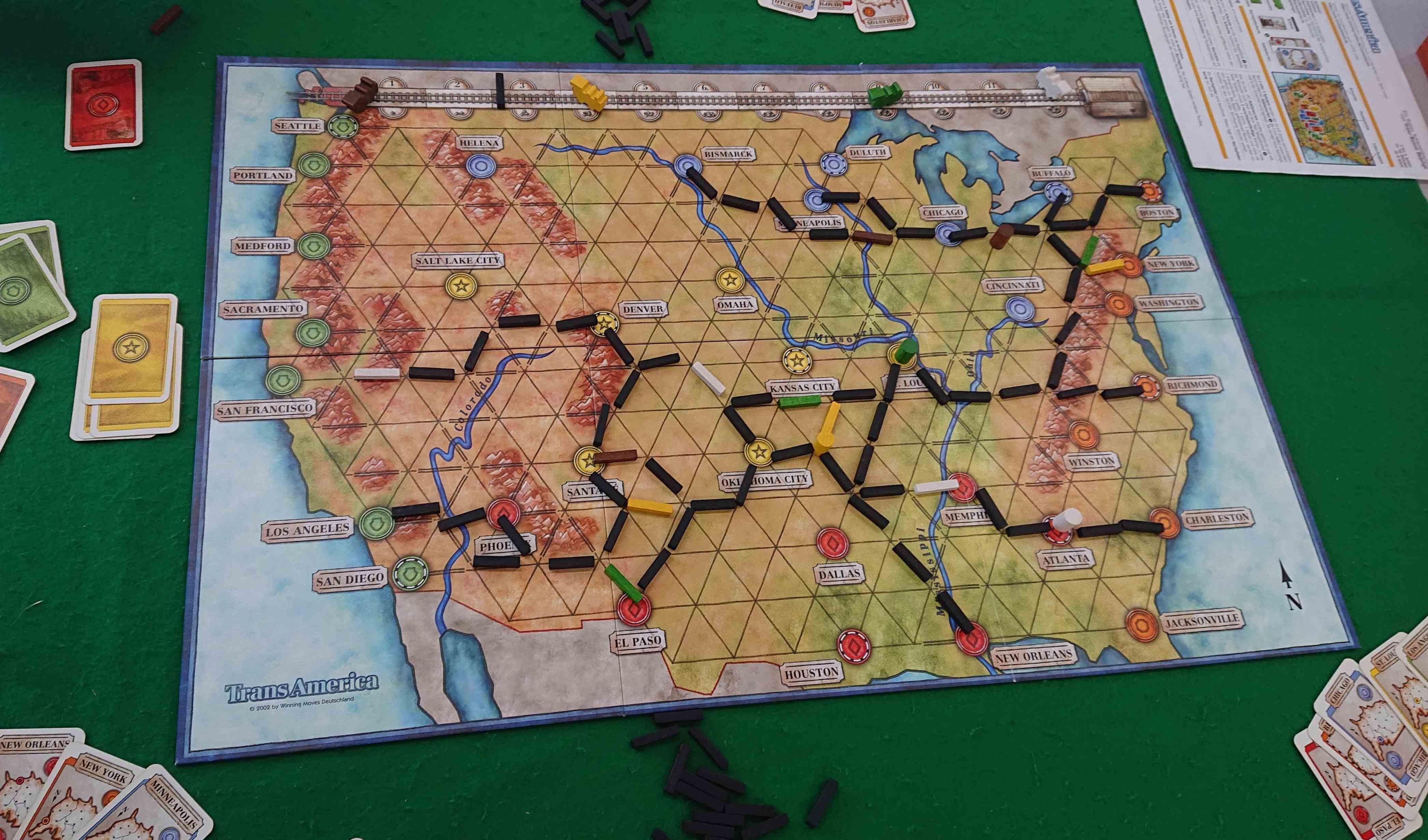 「トランスアメリカ」「SETLLIUM」「四国」ボードゲーム会でプレイしたゲーム 感想
