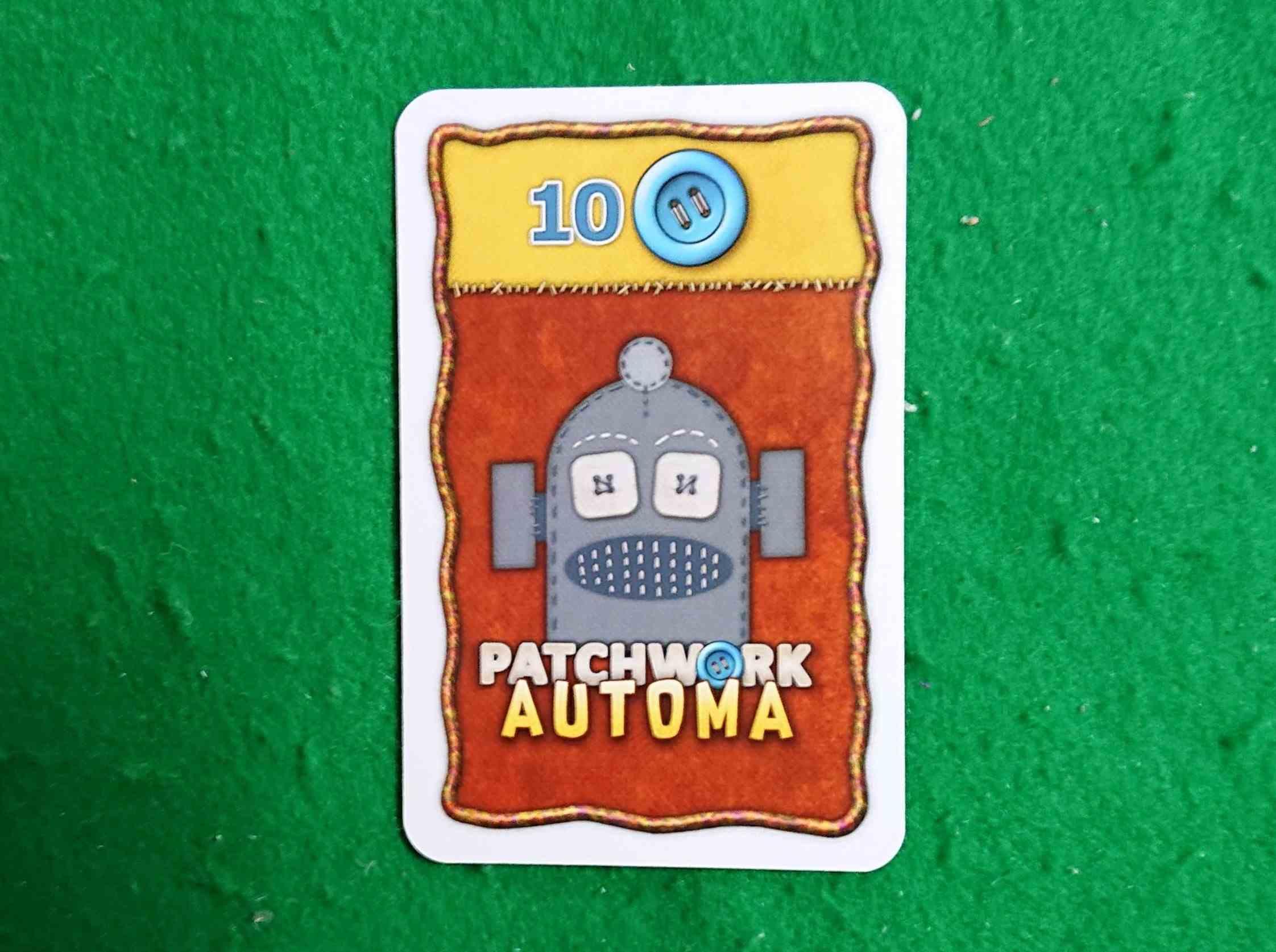 パッチワーク ソロプレイ用カードの紹介 ボードゲーム