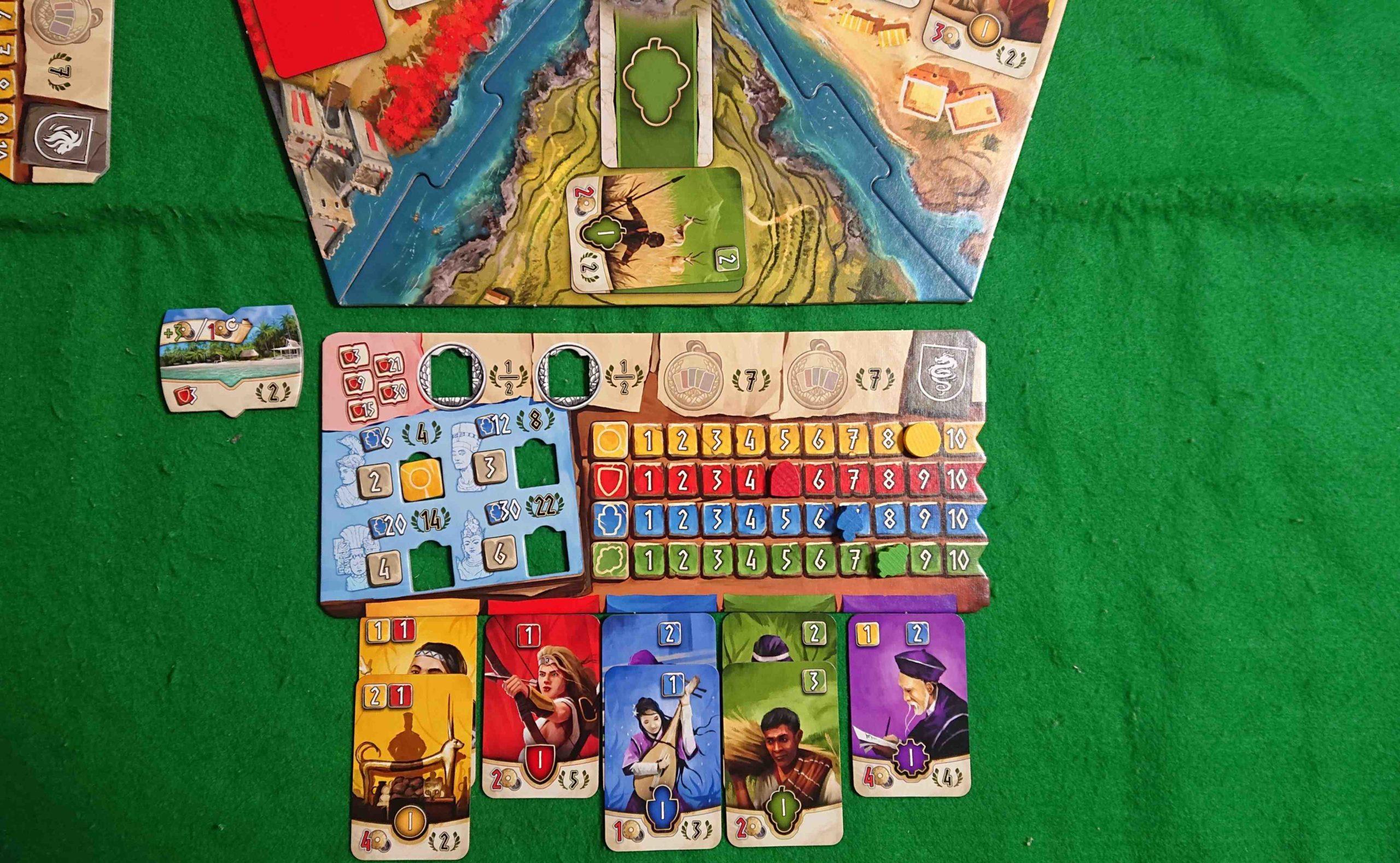 HADARA(ハダラ) ルール&レビュー 1枚のカードを購入するか売却するだけ! 4つの国力を発展させよ!  ボードゲーム