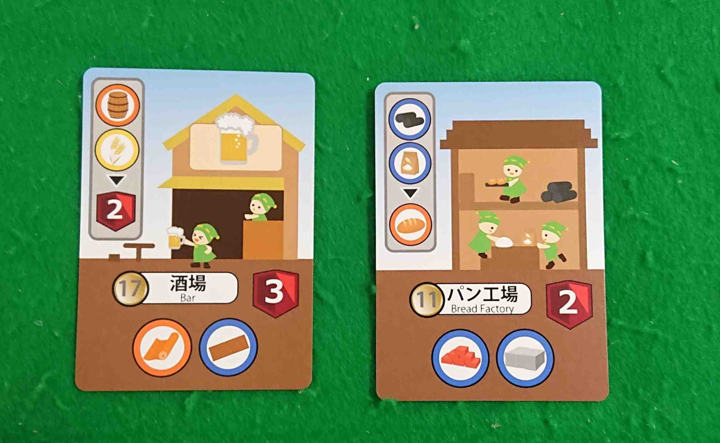 グッズメイカー ルール&レビュー 生産・売買を繰り返し建物を建てよう! ボードゲーム