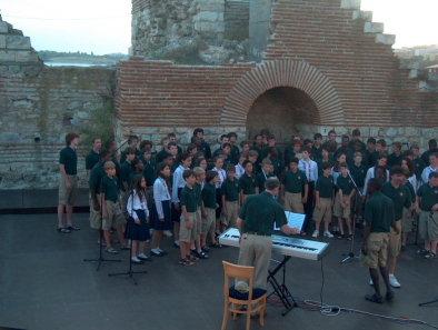 Несебър 2008 г., съвместен концерт с американския момчешки хор Кийстоун