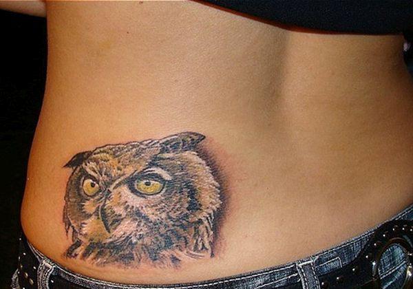 Owl face tattoos
