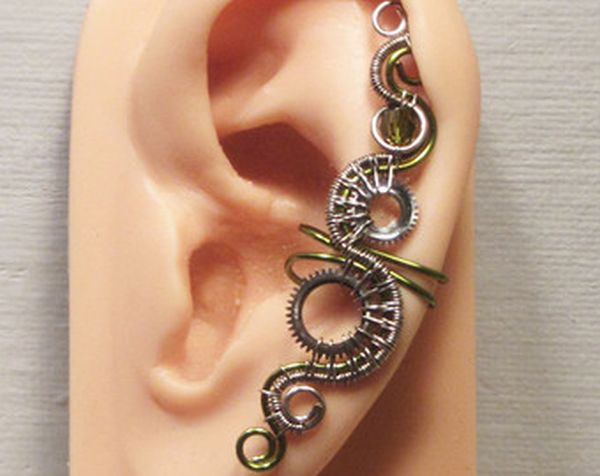 Electric Steampunk ear cuff