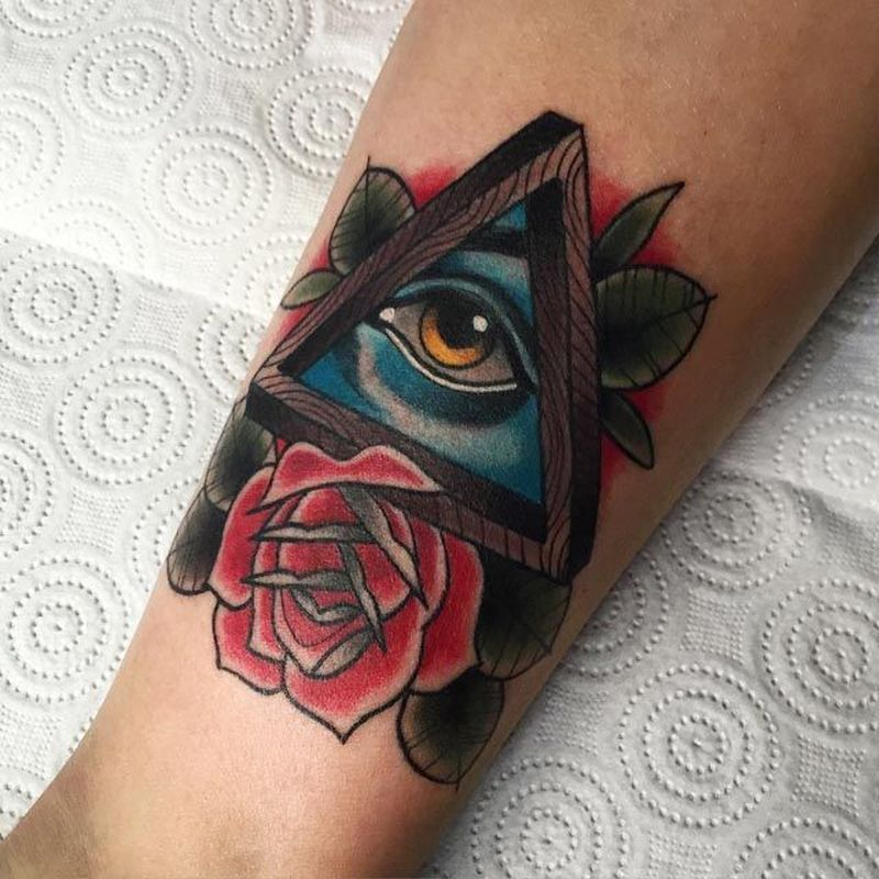 Eye design tattoos