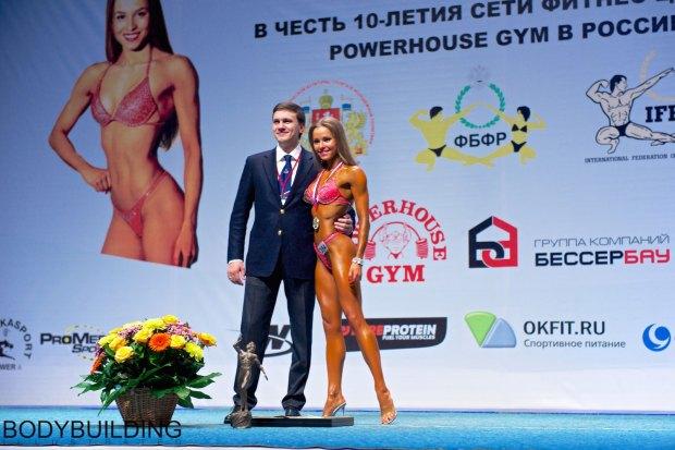 Елизавета Мукминова и Антон Гиренко-Коцуба - Чемпионат России по бодибилдингу и фитнесу 2014, Екатеринбург