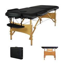 Black Portable Massage Table