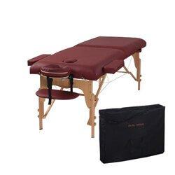 Heaven Massage Two Fold Burgundy Portable Massage Table