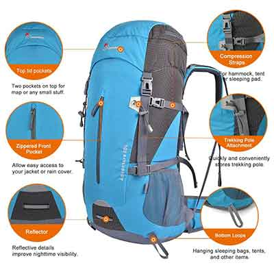 Mountaintop 50L Hiking Backpack