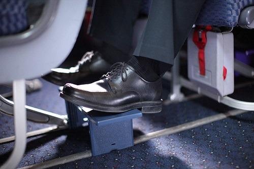 Portable Footrest Navy Blue