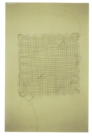 'Untitled (hair grid with knots 3)' (Mona Hatoum, 2001)
