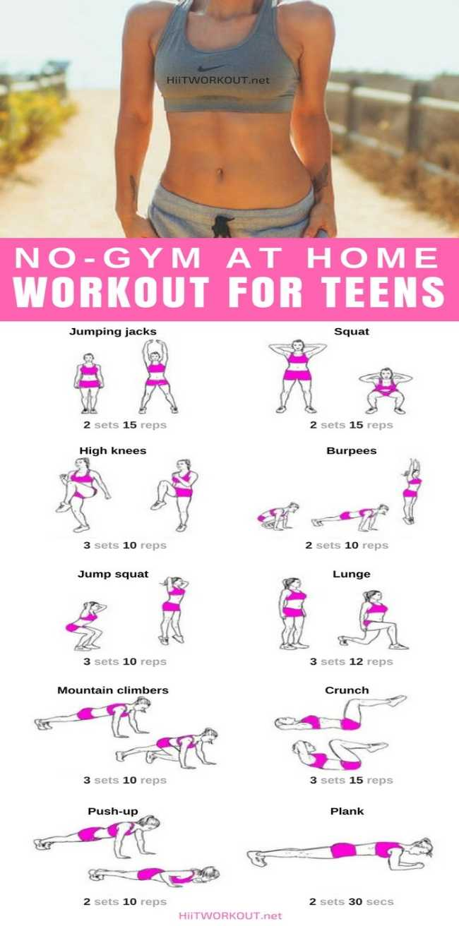 Easy full body workout routine for teens at Home