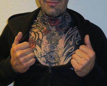 Airbrush Tattoo Kompass