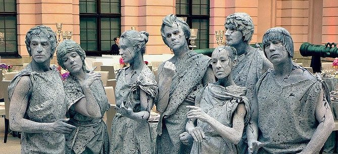 Bodypainting Statuen Living Dolls