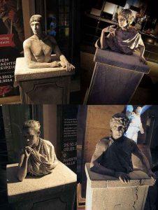 Bodypainting-Stein -statuen
